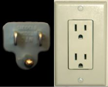 US plug and socket