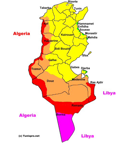 Security Map Tunisia