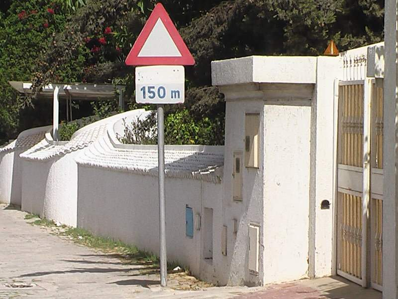 Traffic signs of Tunisia